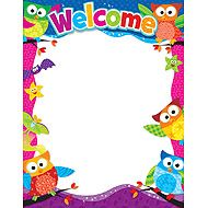 owl school theme | Welcome (Owl-Stars!™) Learning Chart | TRENDenterprises.com