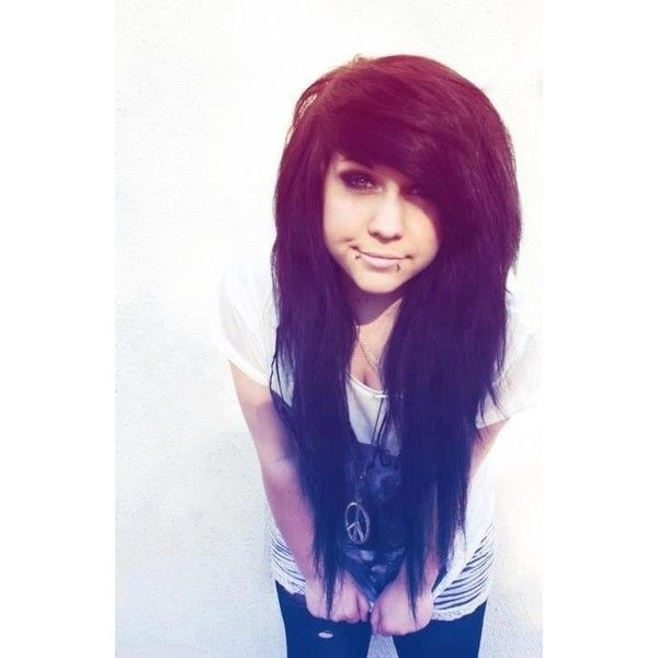 Emo Scene Girls ❤ liked on Polyvore featuring hair, people, girls, hair styles, hairstyles and backgrounds