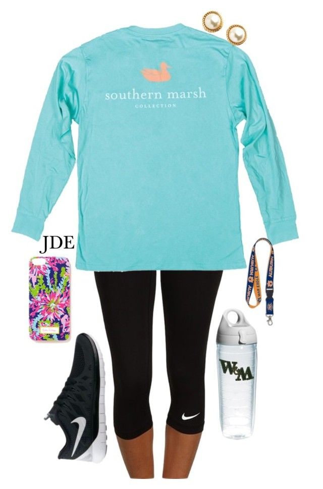 """School."" by jane-dodge ❤ liked on Polyvore featuring NIKE, Lilly Pulitzer, WinCraft, Kate Spade and Tervis"