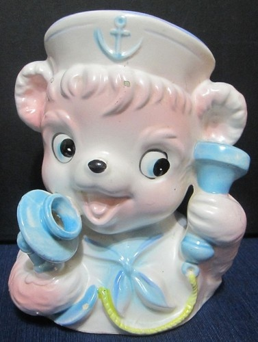 1960s Baby Sailor Bear Planter Vintage Nursery Decor | eBay