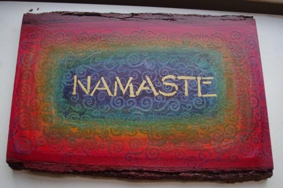 Namaste Wood by bhaskara on Etsy, $40.00