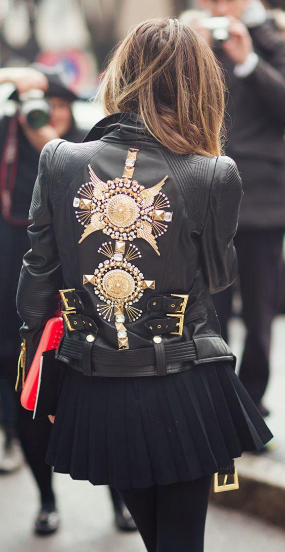 Embro leather jacket #LBD
