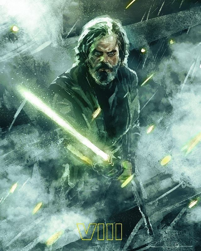 """Luke Skywalker portrait"" Ary by: @christianrosad6 #StarWars #StarWarsVIII #lukeskywalker"
