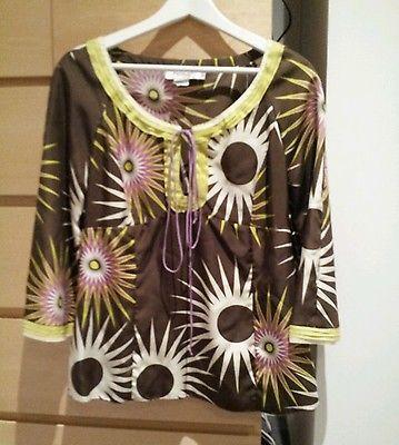 Hoss Designer Top Resort Style Fashion Floral Woman'S | eBay