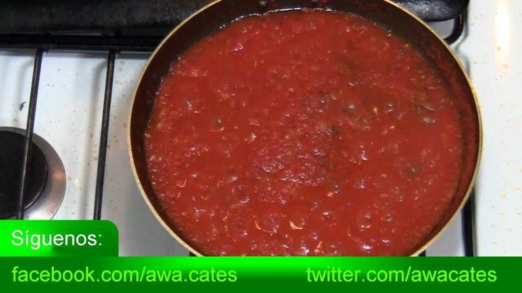 Como Hacer Salsa de Tomate para cualquier Pizza Casera. Recetas Faciles ...