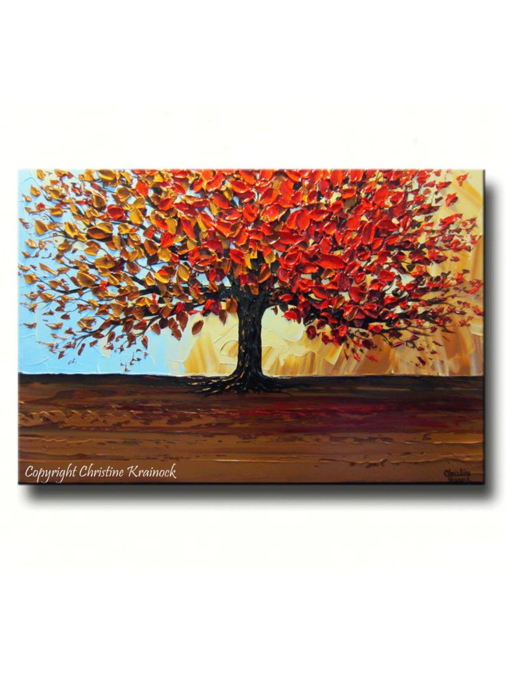 Wall Art Red Leaves : Best fall tree painting ideas on aspen