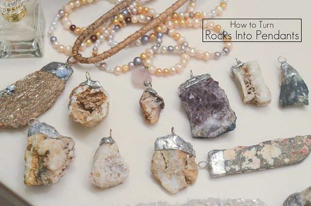 how to make a necklace from a rock