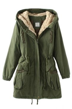 Green Vintage Warm Winter Tunic Hooded Womens Parka Coat on sale at reasonable prices, buy cheap Green Vintage Warm Winter Tunic Hooded Womens Parka Coat online at PinkQueen.com now!