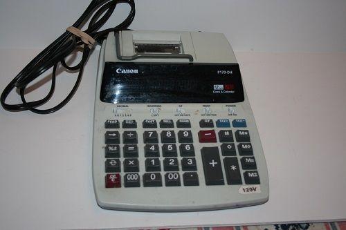 Canon Model P170-DH Printing Calculator, Calendar, and Clock  #Canon