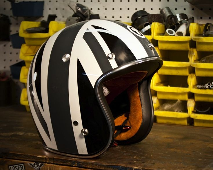 Grey Union Jack Helmet by Torc Helmets