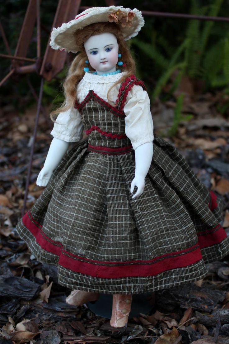 Simon Halbig Child Fashion with Bisque Arms, Orig Wig, Antique Outfit from signaturedolls on Ruby Lane