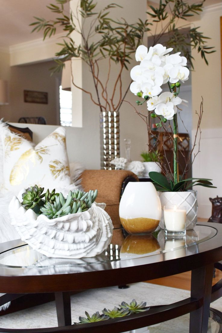 Using faux plants and greenery in your decor is a low maintenance way to bring style into your home! HomeGoods Sponsored Pin.