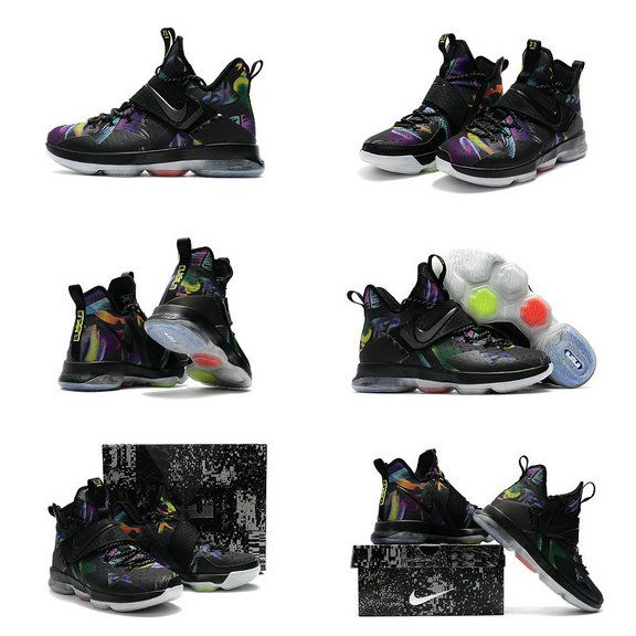 d22cf21af76 New LeBron James Shoes 2017 Lebron 14 XIV Parade Black Cosmic Purple White  Championship Lebrons