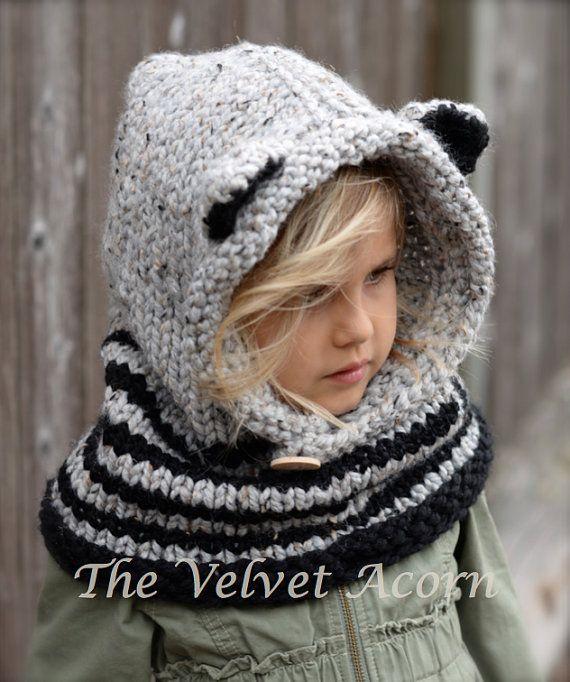 Tricot PATTERN-The Ryder raton laveur Cowl 12/18 par Thevelvetacorn
