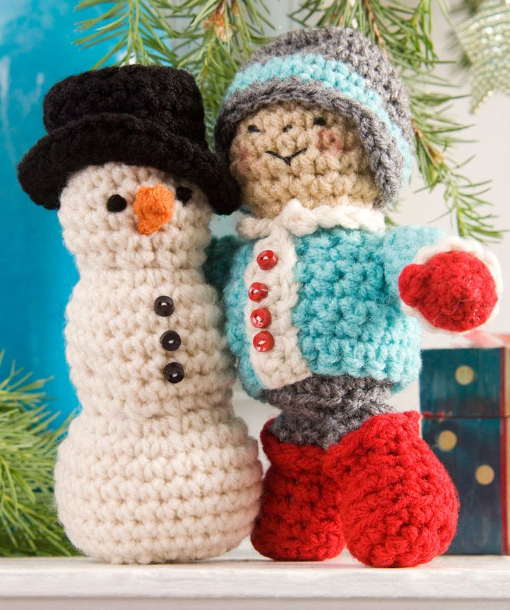 His First Snowman Crochet Pattern by Red Heart yarns  #Christmas # Crochet