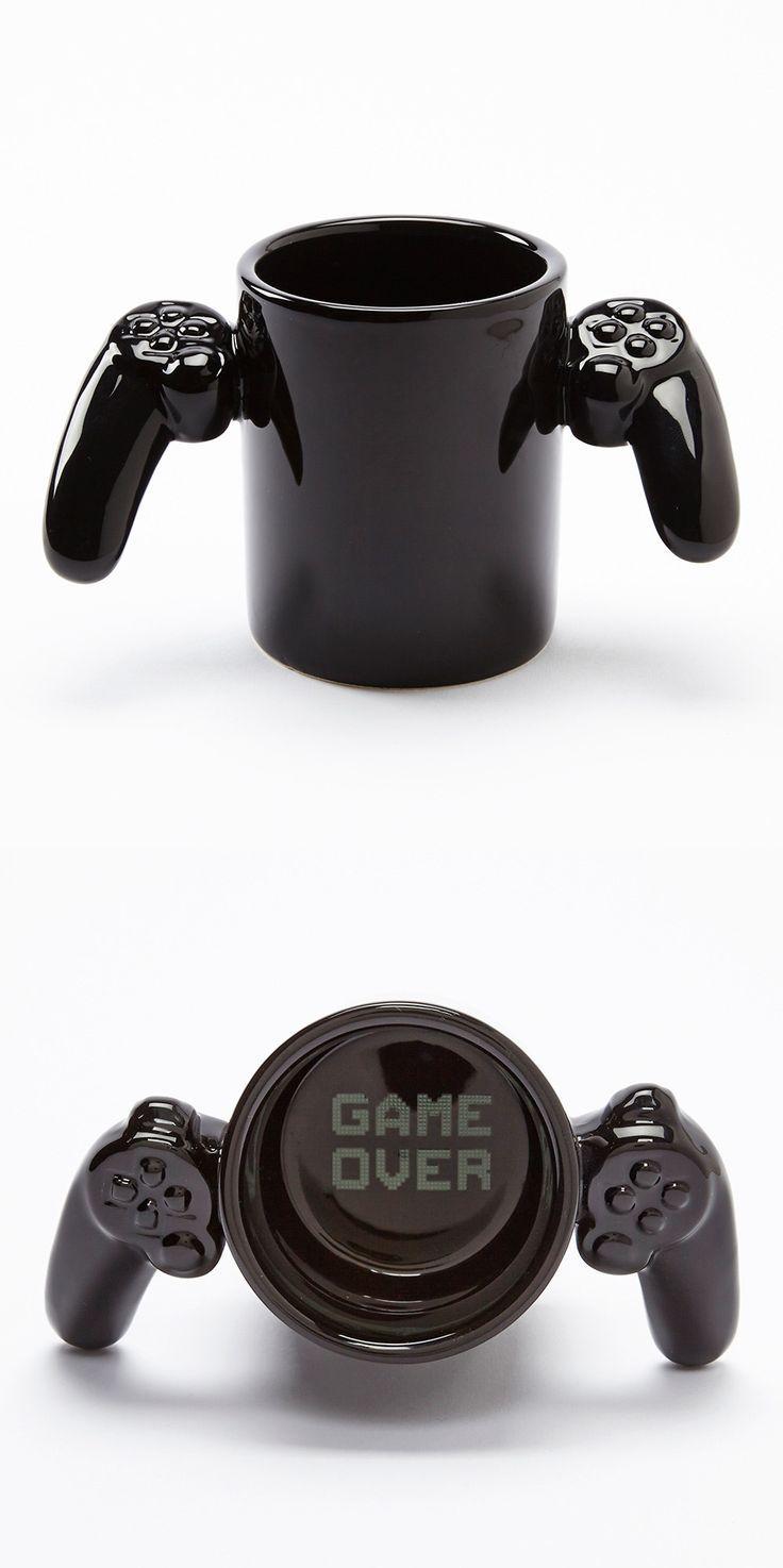 "nerdismindecor: ""Game Over"" game controler coffee mug, found here."