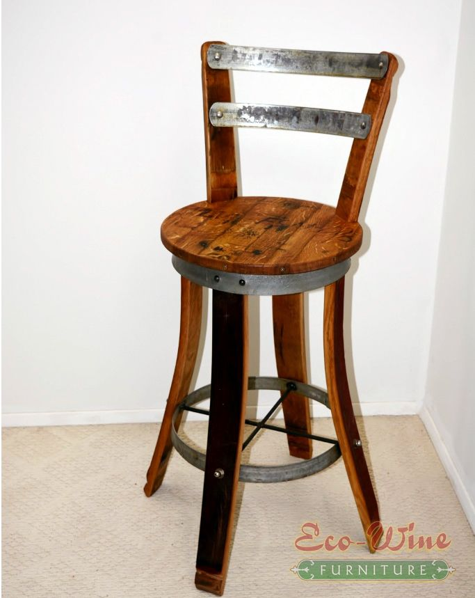 This Wine Barrel Swivel Chair handcrafted with a contoured back and seat. Lower foot rungs add to the comfort of this sturdy oak chair. Use as a barstool or ... & Best 25+ Barrel furniture ideas on Pinterest | Wine barrels Wine ... islam-shia.org