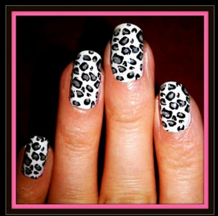 Diy Snow Leopard Nail Art: 22 Best Gel Nails Images On Pinterest