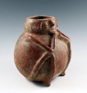 Pre-Columbian Narino Seated Figure Vessel