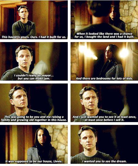 Breaks my heart! But I'm still mad at him  Scandal - Olivia  Fitz #3.8 #Season3 #Olitz