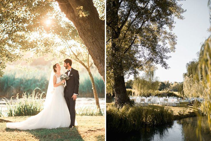 Elegant Wedding With Outdoor Waterside Reception In Lake Garda Italy With Bride In Atelier Eme Dress Planned