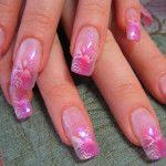 Airbrush Nail Art Designs for Girl