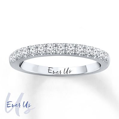 Ever Us Band 3/8 ct tw Diamonds 14K White Gold