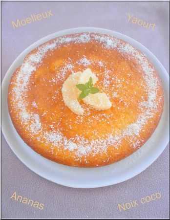 Gateau au yaourt ananas coco facile