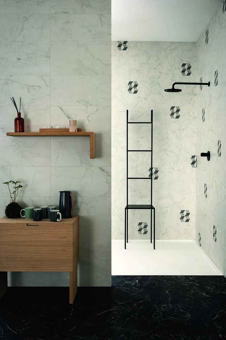 #Marazzi | #Allmarble | #porcelain | #tiles | #bathroom | #marbleeffect | #andreaferrari | #shower | #floor | #walls