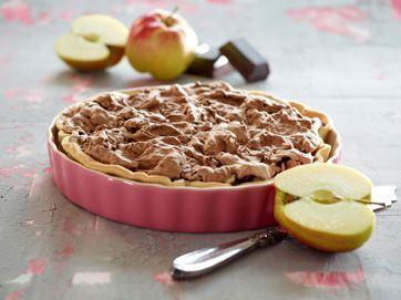 Æbletærte med chokolademarengs