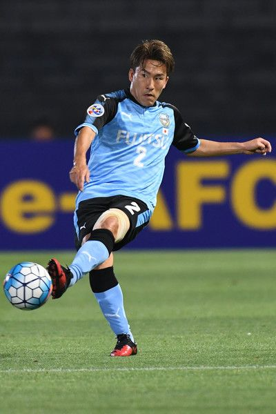 Kyohei Noborizato of Kawasaki Frontale in action during the AFC Champions League Round of 16 match between Kawasaki Frontale and Muangthong United at Kashima Stadium on May 30, 2017 in Kashima, Japan.