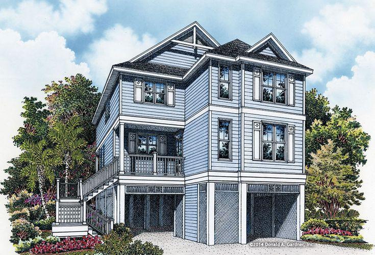 Best 25 coastal house plans ideas on pinterest beach for Outdoor elevators for beach houses