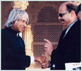 P Mohamed ali with APJ Abdul in India.  find out or guess the reason of this meeting here: http://galfar.com/honours_and_awards