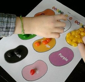 Easter activities for preschoolers. Might not be able to stop them from eating all the jelly beans