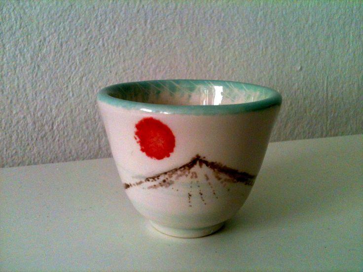 Sakebecher mit Fujisan