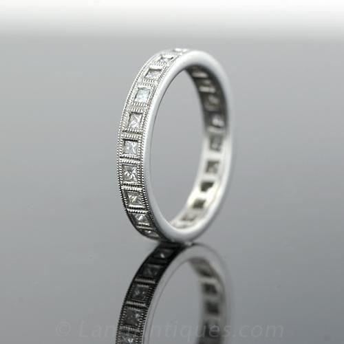 Platinum princess-cut Diamond Wedding Band