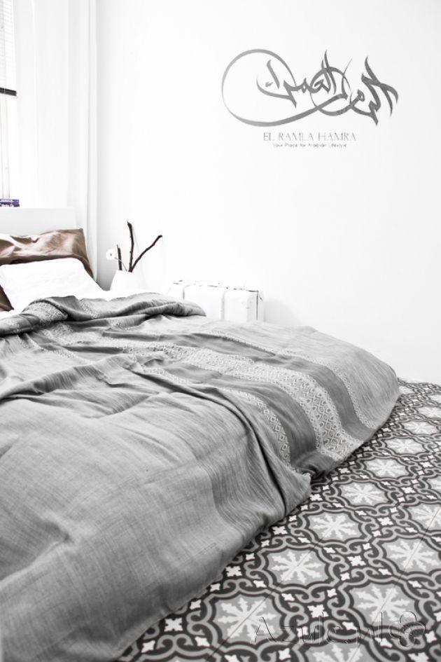 Cement tiles Bedroom - Gris 01 - Project van Designtegels.nl