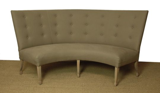 Carolina Armless Curved Banquette Duh Home Pinterest Banquette Bench Banquettes And Benches