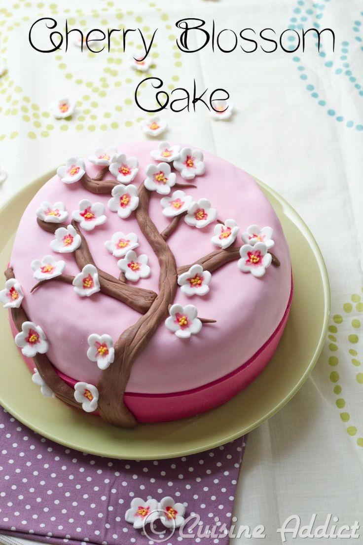 Cherry Blossom Cake, un gâteau pour fêter le printemps! {Thé matcha, Crème au beurre légère à la Rose & Framboises}