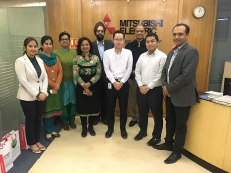 | MoU of NCU & Mitsubishi Electric Private Ltd, Gurugram | As an outreach activity, Prof. Ravindra Ojha (Director, SOET & HOD, ME), Prof. Swaran Ahuja (Dean Academics & HOD, ECE), Dr Anjali Garg (Dy. Dean, PhD Program), Dr Shiv Manjaree Gopaliya (MoU Coordinator) and Ms Shaveta Arora (Member, ECE) had visited the office of Mitsubishi Electric Private Limited, Gurgaon on 31 January 2017 to take our MoU further.