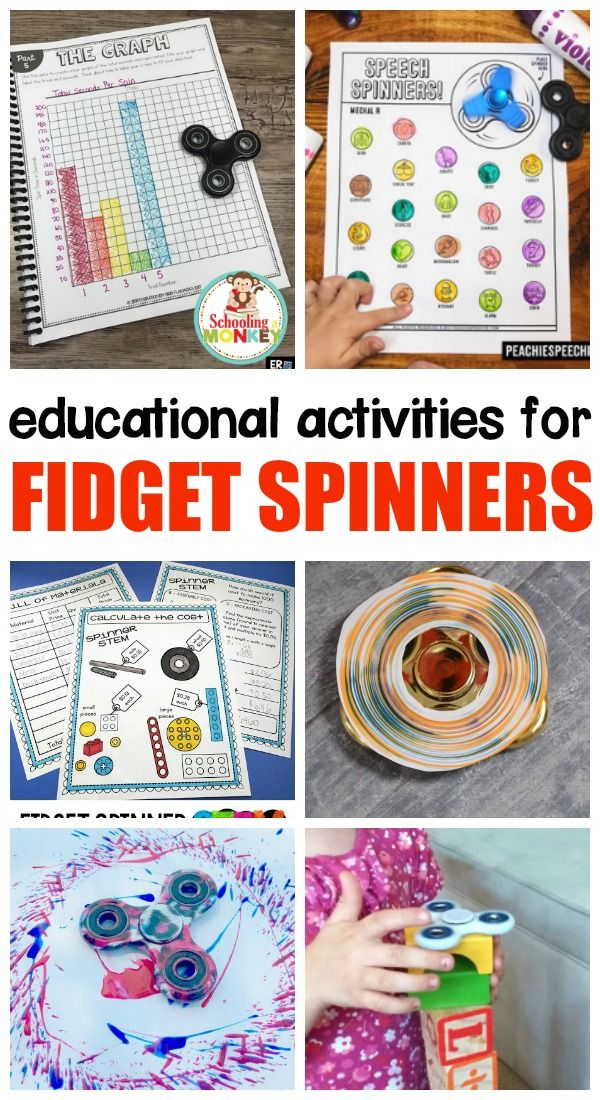 Your kid has a fidget spinner, so now what? These educational fidget spinner activities will provide a direction for the madness!