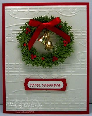 Martha Stewart branch punch many times to make a wreath