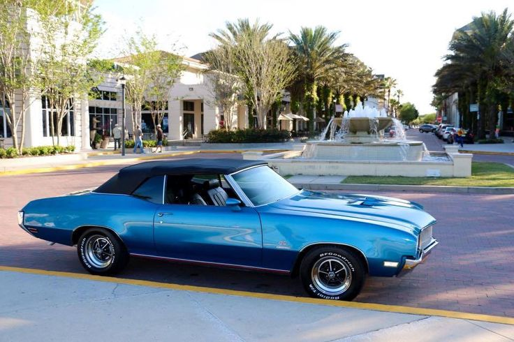 1970 skylark gran sport convertible in stratomist blue General motors convertibles