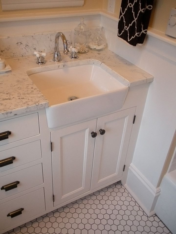 22 best apron front sinks used in bathrooms images on pinterest bathroom home ideas and for Used bathroom vanity with sink