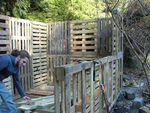 Pallet Shed Plans Free | Pallet shed music room - DIYnot.com - DIY and Home Improvement