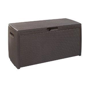 Keter Plastic Garden Storage Brown Rattan Style Box