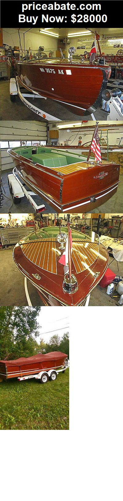 Boats: 1951 20ft Century Resorter Mahogany Runabout  - BUY IT NOW ONLY $28000