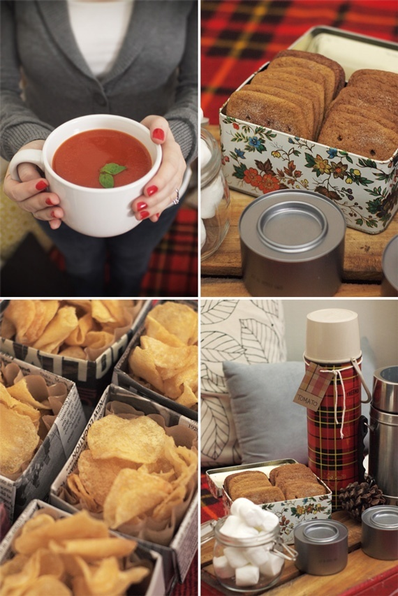 Picnic ideas for a cozy Winter picnic.