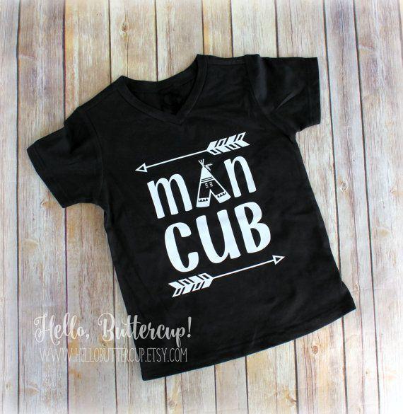 Man cub T-Shirt Baby boys outfit Newborn boy by HelloButtercup