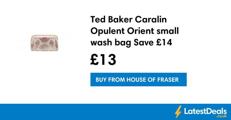 Ted Baker Caralin Opulent Orient small wash bag Save £14, £13 at House of Fraser